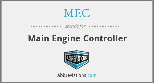 MEC - Main Engine Controller