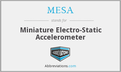 MESA - Miniature Electro-Static Accelerometer