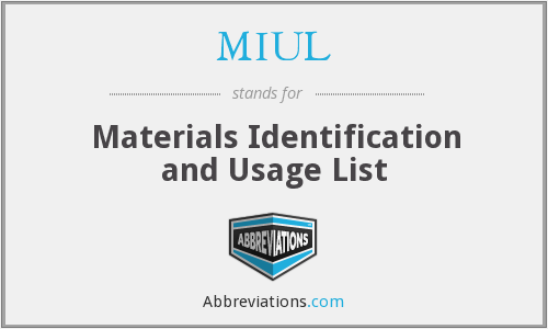 What does MIUL stand for?