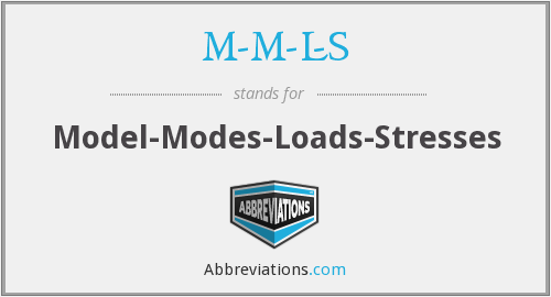 M-M-L-S - Model-Modes-Loads-Stresses