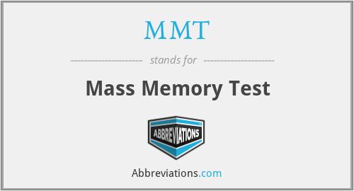 MMT - Mass Memory Test