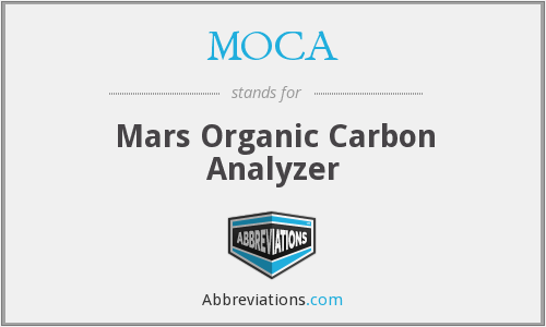 MOCA - Mars Organic Carbon Analyzer