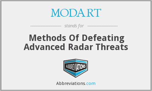 MODART - Methods Of Defeating Advanced Radar Threats