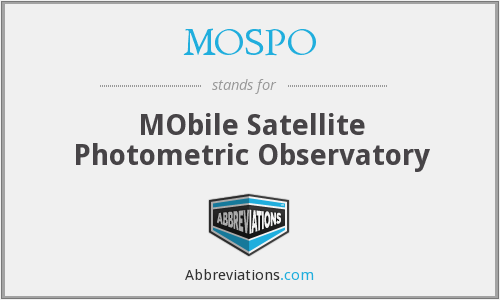 MOSPO - MObile Satellite Photometric Observatory