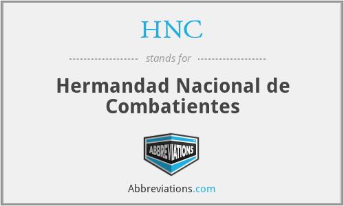 HNC - Hermandad Nacional de Combatientes