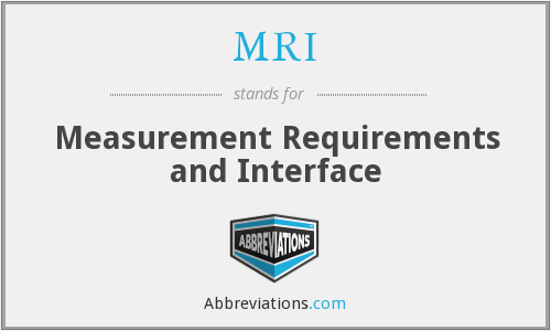 MRI - Measurement Requirements and Interface
