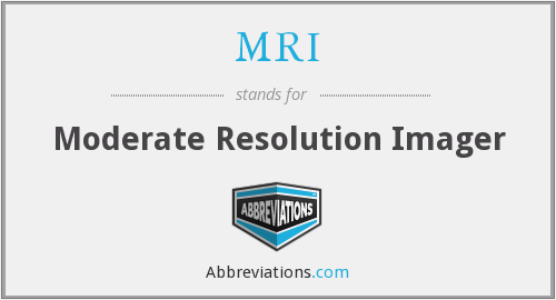 MRI - Moderate Resolution Imager