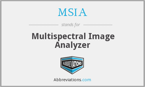 MSIA - Multispectral Image Analyzer