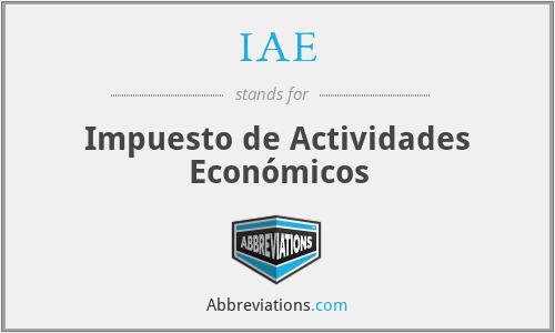 IAE - Impuesto de Actividades Económicos