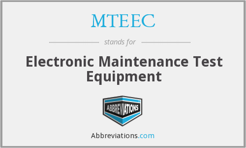 MTEEC - Electronic Maintenance Test Equipment