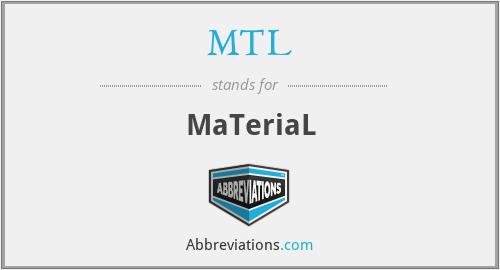 MTL - MaTeriaL