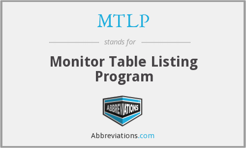 What does MTLP stand for?