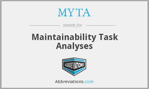 MYTA - Maintainability Task Analyses