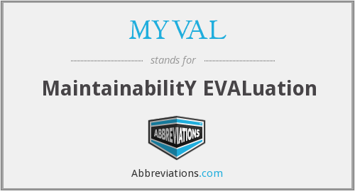 MYVAL - Maintainability Evaluation