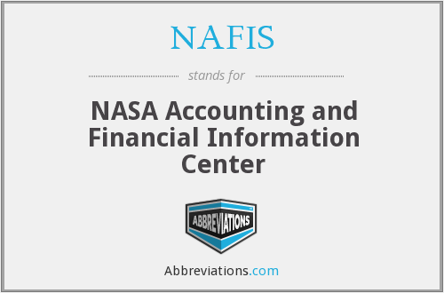 NAFIS - NASA Accounting and Financial Information Center
