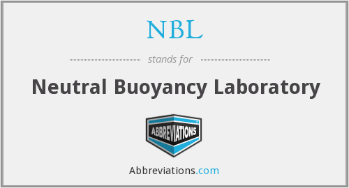 NBL - Neutral Buoyancy Laboratory