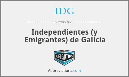 IDG - Independientes (y Emigrantes) de Galicia