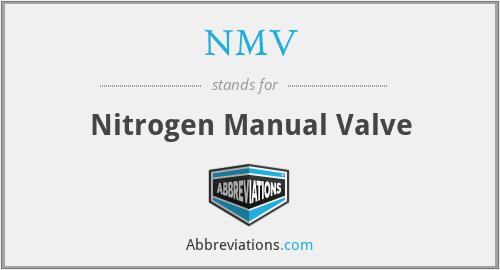 NMV - Nitrogen Manual Valve