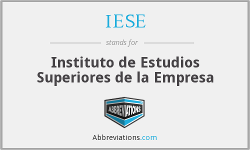 What does IESE stand for?
