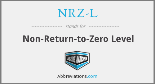 NRZ-L - Non-Return-to-Zero Level