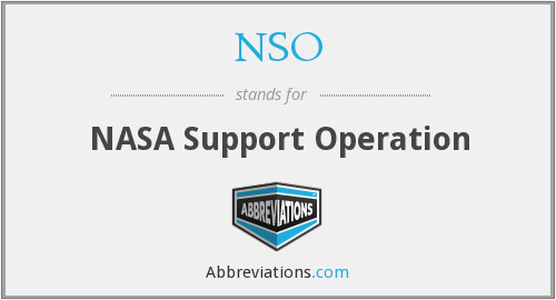 NSO - NASA Support Operation