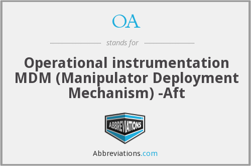 OA - Operational Instrumentation MDM-Aft