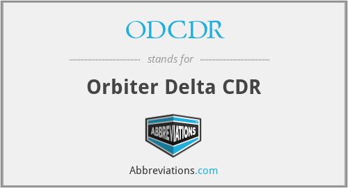 ODCDR - Orbiter Delta CDR