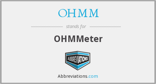What does OHMM stand for?