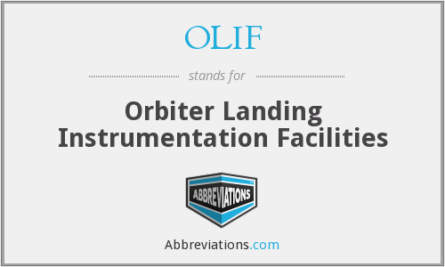 OLIF - Orbiter Landing Instrumentation Facilities