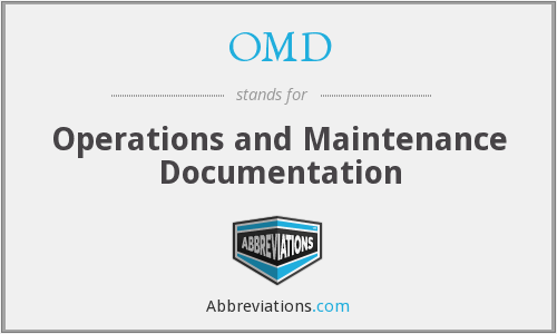 OMD - Operations and Maintenance Documentation