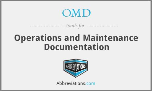 OMD - Operations and Maintenance Documentation