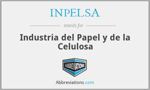 INPELSA - Industria del Papel y de la Celulosa