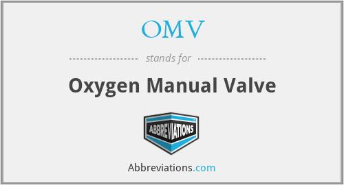 OMV - Oxygen Manual Valve