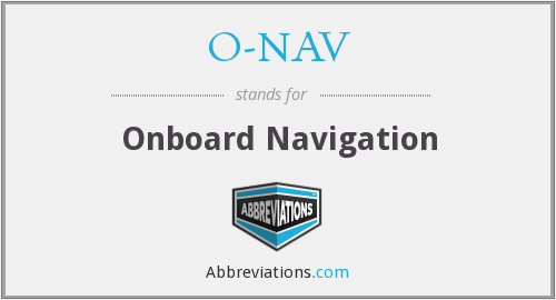 O-NAV - Onboard Navigation