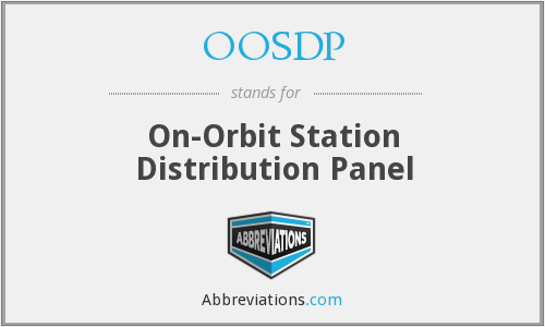 OOSDP - On-Orbit Station Distribution Panel