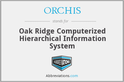 ORCHIS - Oak Ridge Computerized Hierarchical Information System