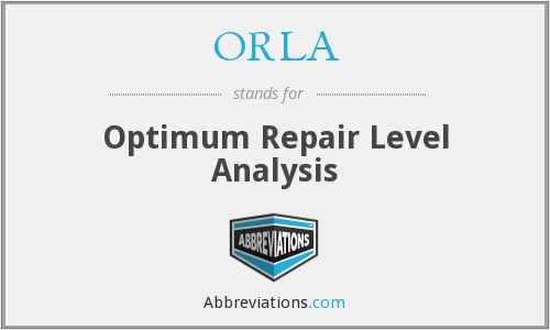 ORLA - Optimum Repair Level Analysis