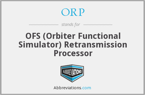 ORP - OFS (Orbiter Functional Simulator) Retransmission Processor