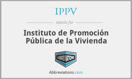 IPPV - Instituto de Promoción Pública de la Vivienda