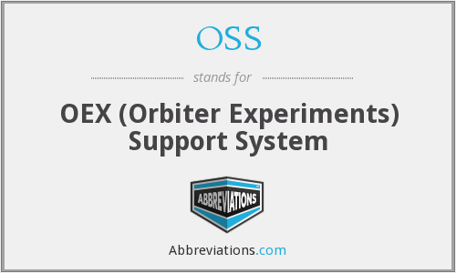 OSS - OEX (Orbiter Experiments) Support System