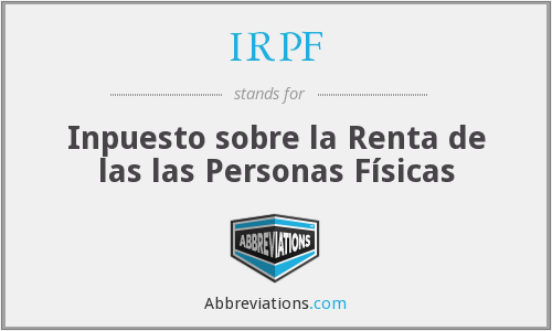 IRPF - Inpuesto sobre la Renta de las las Personas Físicas