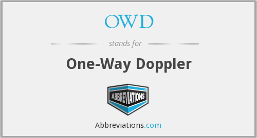 OWD - One-Way Doppler