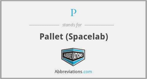 P - Pallet (Spacelab)