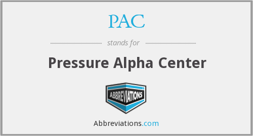 PAC - Pressure Alpha Center