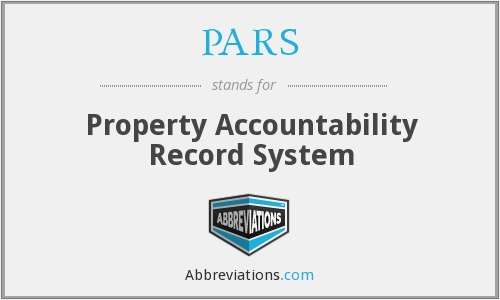 PARS - Property Accountability Record System