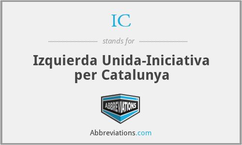IC - Izquierda Unida-Iniciativa per Catalunya