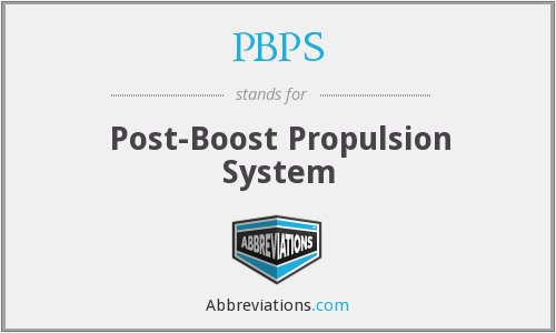 PBPS - Post-Boost Propulsion System