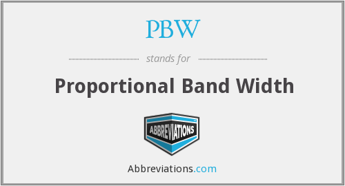 PBW - Proportional Band Width