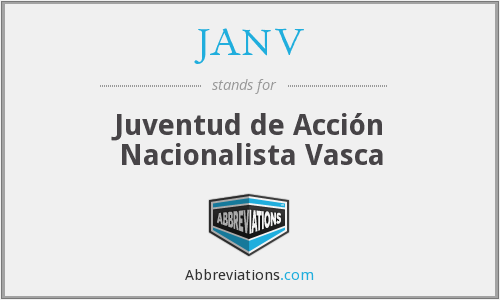 What does JANV stand for?