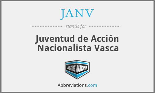 JANV - Juventud de Acción Nacionalista Vasca